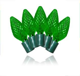 c 25c9gr 12g 25 count commercial grade faceted c9 green. Black Bedroom Furniture Sets. Home Design Ideas