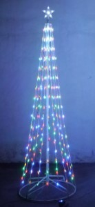LED-TRM5-08-4M-LED 8' tree M5 lights 4 multi with 8 function controller
