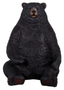 WL-BKBEAR-SIT - JUMBO SITTING BLACK BEAR