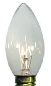 C9 Dimmable Incandescent Clear Bulbs E17 Base