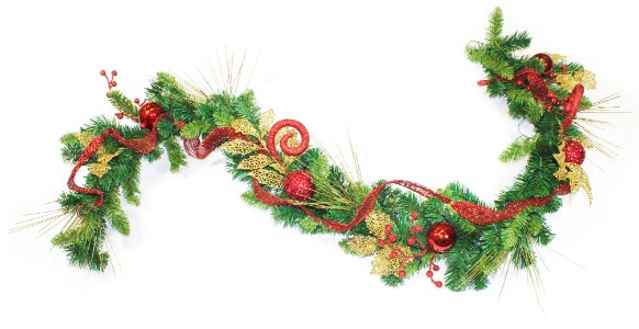 WL-GAR6-CL-WW - 6' long Garland: Classic Christmas Collection