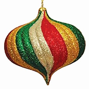 Green, Red, Gold & Silver Christmas Ornaments