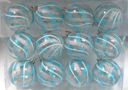 Aqua Christmas Ornaments