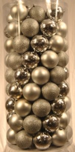 100 Pack of 60MM Plastic Silver Balls