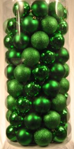 100 Pack of 70MM Plastic Green Balls