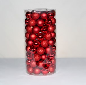 100 Pack of 70MM Plastic Red Balls