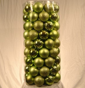 100 Pack of 70MM Plastic Sage Green Balls