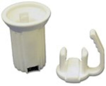 50Pk Replaceable E12 C7 White Sockets