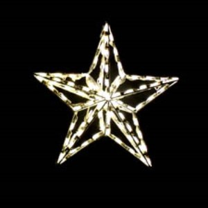 WL-STAR-TOP-3D-02-LWW  -  2' 3-D Star Tree Topper  lit with LED warm white Lights