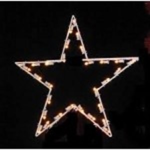 WL-STAR-TOP-5P-03-LWW -  3' Star Tree Topper  lit with LED warm white Lights