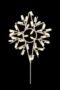 WL-STAR-TOP-BETH-02-LWW -  2' Commercial grade 8 point Bethlehem Star  lit with warm white LEDs