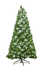 WL-TRBM-12-LPW - Prelit 12' UV Mixed Blended Pine Tree 3,567 tips Lit with 1300 Pure White LED