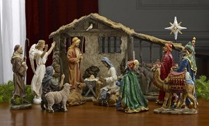 "16 Piece 10"" Deluxe Real Life Nativity Set"