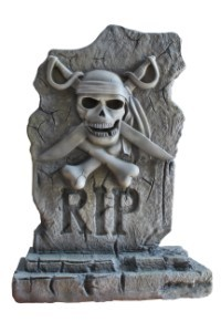 3.5' First Mate Pirate Tombstone