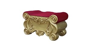Plush Velvet Santa Foot Rest