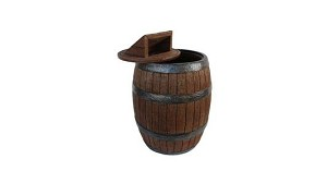"50"" Whiskey Barrel Trash Can"