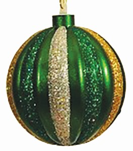 Green, Red, Silver, Gold 100MM Ball Ornament