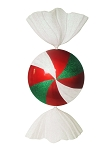 Peppermint Candy Ornament 3.5' Red Green and White