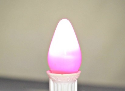 C7 Frosted Pink LED Retrofit Bulb