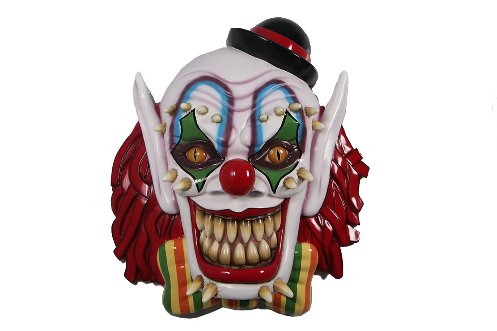 5' SCARY CLOWN MASK WALL MOUNT