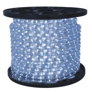 12 Volt 150' spool of 10MM Pure White LED Ropelight