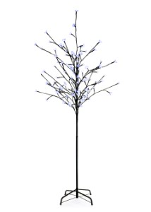 Blue Cherry 6' Tree with 108 LEDs