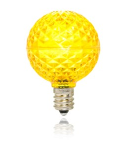 Yellow Replacement G40 Bulb with an E12 Base