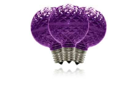 Purple G50 Dimmable Replacement Bulbs