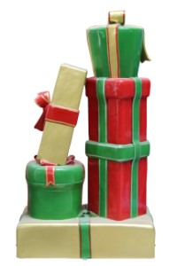 Traditional Collection C Gift Stack Red, Gold with Green