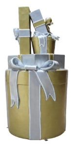 Treasure Collection D Gift Stack Gold, Silver and White