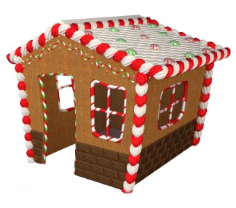 Gingerbread 8' House