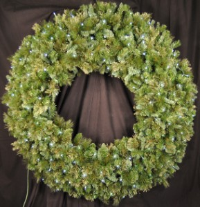 Blended Pine 5' Wreath Pre-Lit with Pure White LEDS