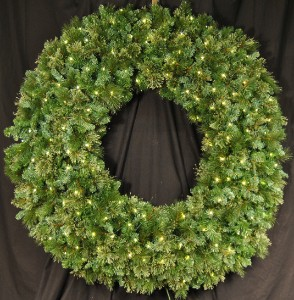 Blended Pine 6' Wreath Pre-Lit with Warm White LEDS