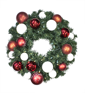Sequoia 2' Wreath Decorated with The Candy Collection and Pre-Lit Warm White LEDS