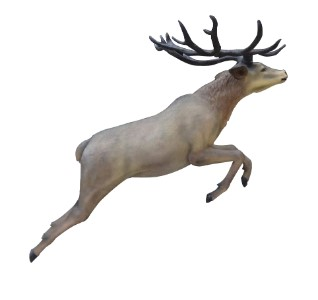 Life Like 6' Flying Red Stag