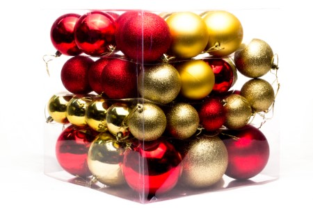62PC Red and Gold Ball Ornaments