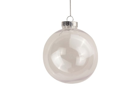 3 Disk and 3 Ball 100mm Clear Ornaments