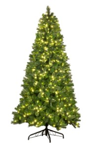 Mixed Blended 7.5' Pine Tree Pre-Lit with Warm White LED Lights