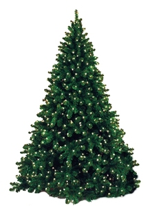 Artificial 9' Natural Looking Tree Pre-Lit with Warm White LEDs