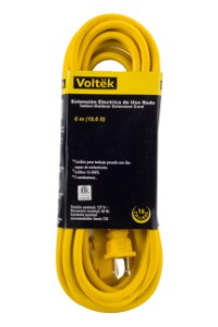 20' Heavy DutyYellow 16/3 Extension Cord