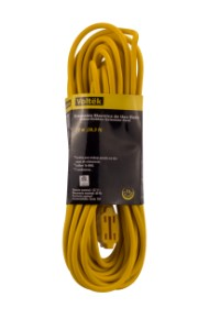 Heavy Duty Yellow 16/3 Extension Cord 40'