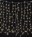 Incandescent Light Curtain with 150 Clear Lights