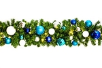 Warm White Pre-Lit 9' Sequoia Garland Decorated with The Arctic Collection