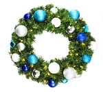 Pre-Lit 4' Sequoia Wreath Decorated with The Arctic Collection