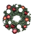 Sequoia 4' Wreath Decorated with The Candy Collection Pre-Lit Warm White LEDs