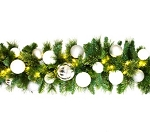 9' Decorated Garland with The Iceland Ornament Collection