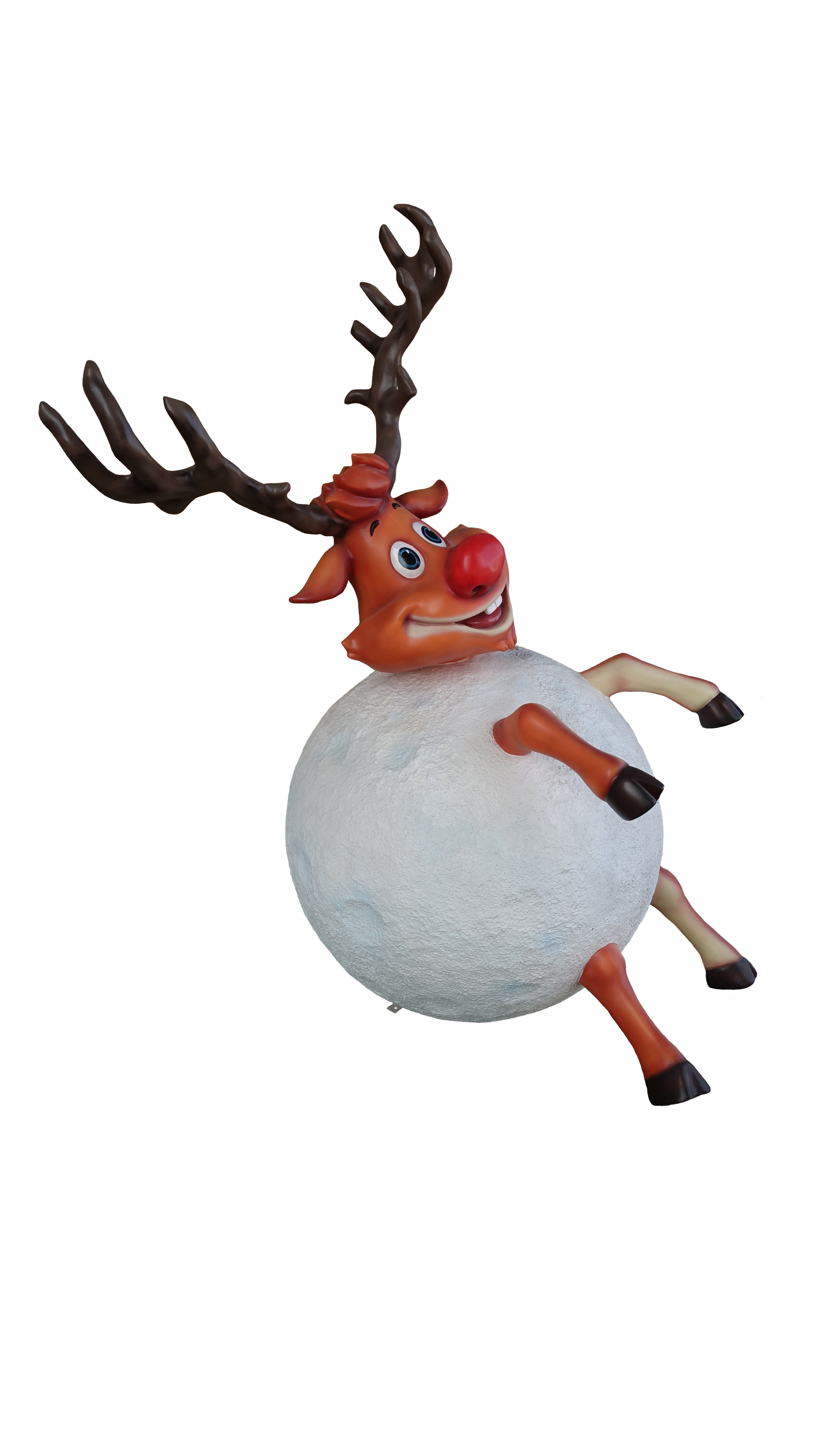 5' REINDEER IN SNOWBALL
