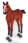 Baby Horse Life Size Foal Resin Statue