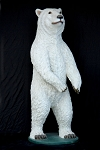 Polar Bear 7.25' Life Size Statue - Resin Prop Display