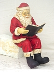 Santa Reading Book for Rocking Chair Christmas Decor